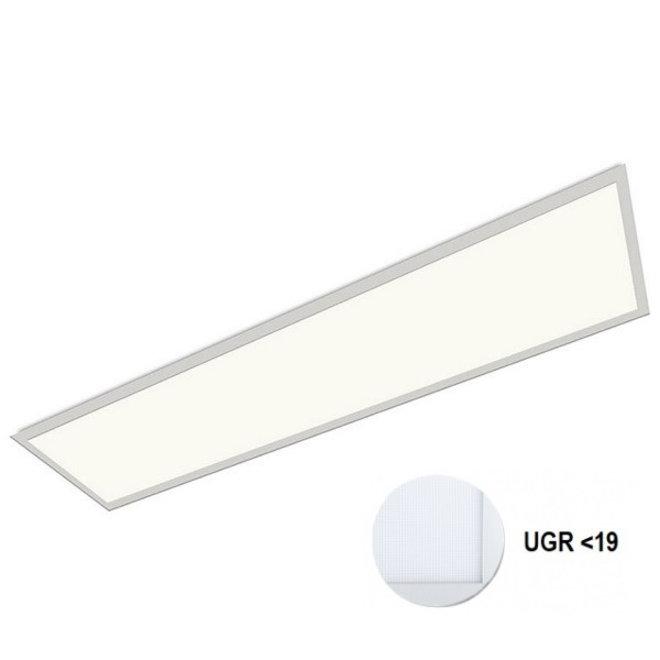 LED Paneel 120x30cm UGR19 32W 4000K Premium 120Lm/W High Lumen - 5 Jaar Garantie - Flikkervrij inclusief Stekker