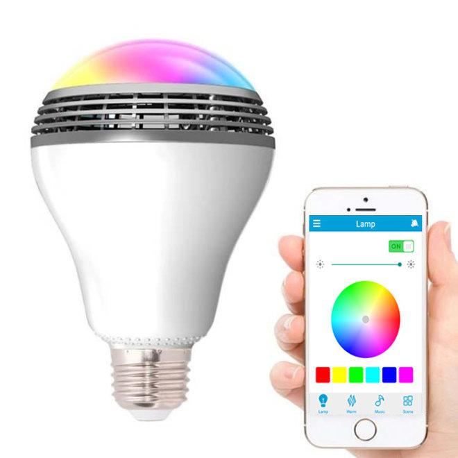Smart LED Lamp Bluetooth RGBW Speaker