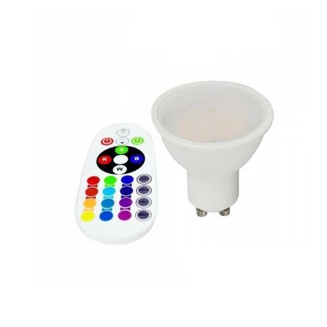 3,5W RGB LED Spotlight GU10 RGB+W - Inclusief RF remote