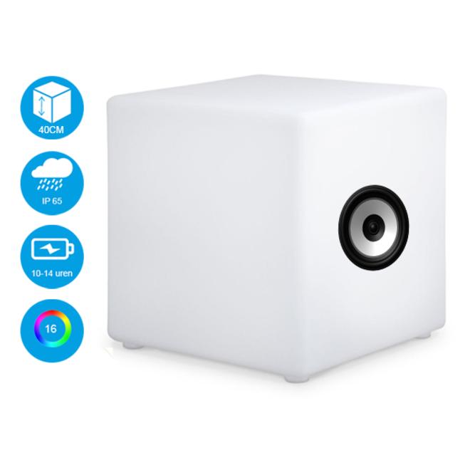 RGB LED Kubus + Speaker 40 cm
