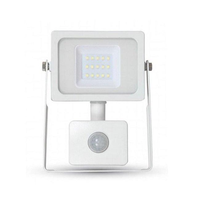 10W LED Bouwlamp met Sensor Wit