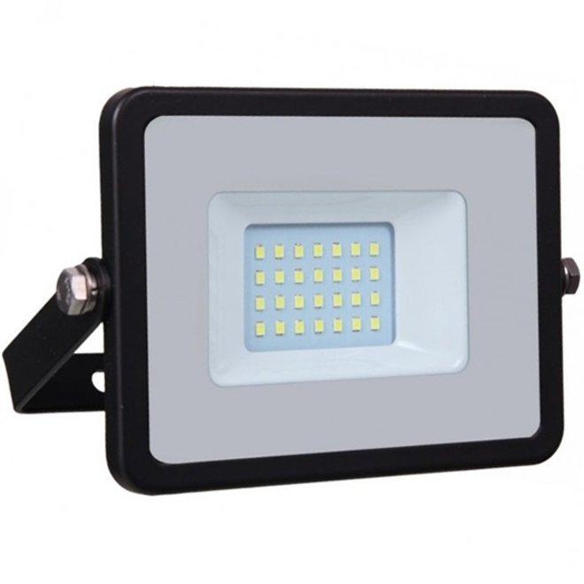 20W LED Bouwlamp Zwart - Waterdicht IP65 - 5 jaar garantie - 3000K