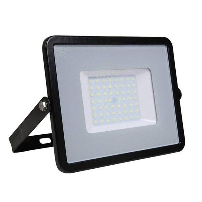 50W LED Bouwlamp Zwart - Waterdicht IP65 - 5 jaar garantie - 3000K