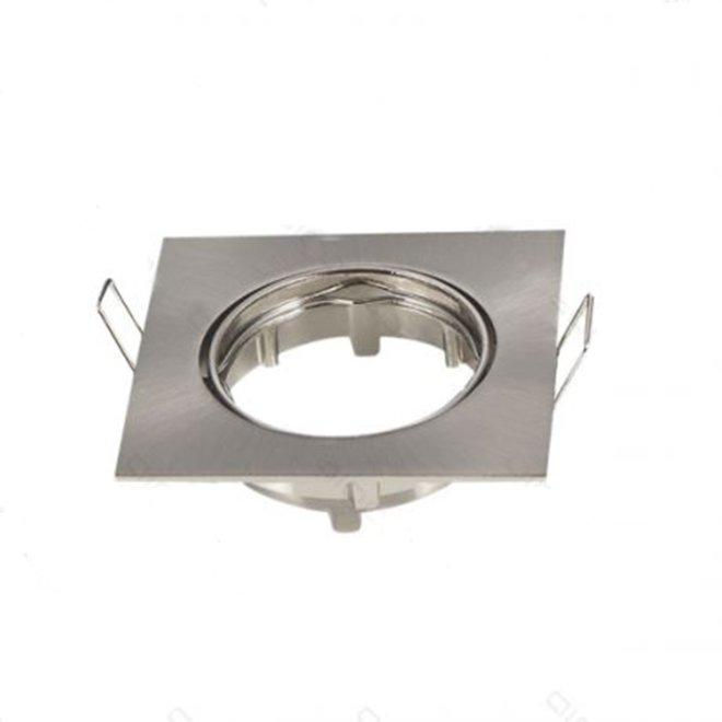 GU10 aluminium vierkant armatuur Nikkel Kantelbaar