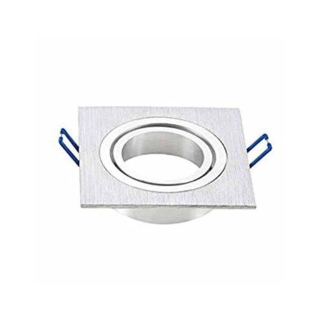 GU10 brush aluminium armatuur vierkant kantelbaar