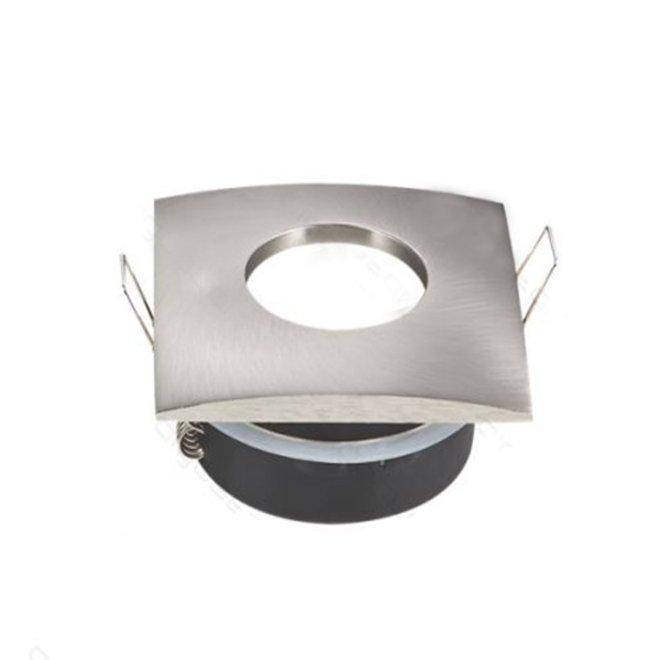 GU10 spotlight vierkant nikkel