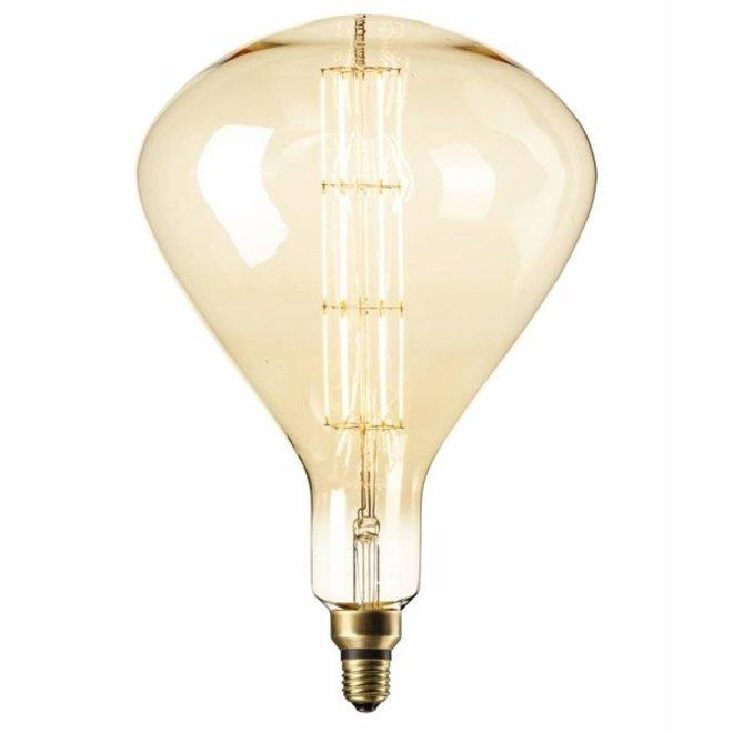 LED Filament XXL R250 Goud E27 2200K 6W Dimbaar