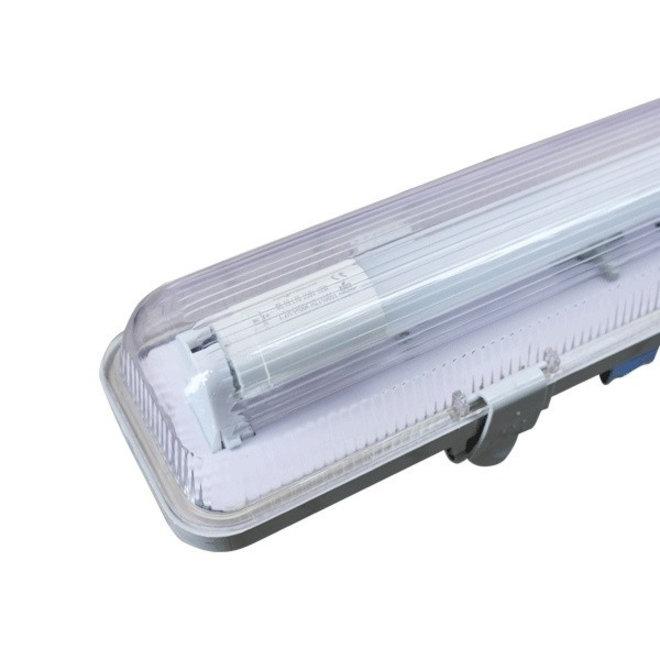 Waterdicht IP65 LED TL armatuur 150 cm - kant en klaar met LED TL verlichting - Inclusief 1 x 22W LED TL buis