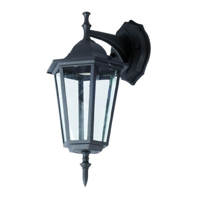 Tuin Wandlamp Lantaarn Cefalù Zwart Omlaaggericht