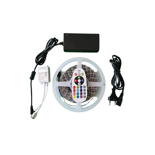 LED strip RGB IP65 Waterdicht - Complete set - Plug&Play - 5 Meter - Met afstandsbediening