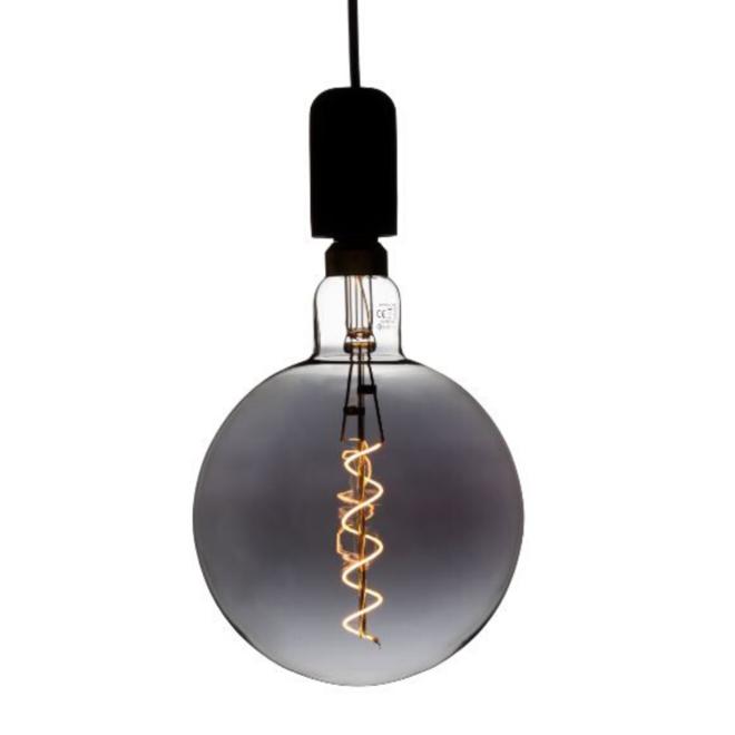 XXL Megaglobe LED 30 cm - G200 Filament lamp Smokey - E27 Giant Dimbaar 6W - Oversized Giant Spiral Bulb