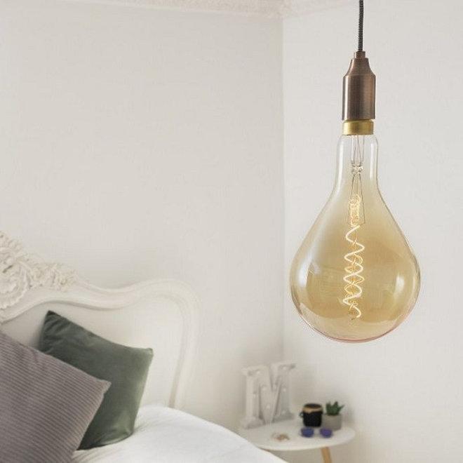 XXL Megaglobe LED 30 cm - PS160 Filament lamp Goud - E27 Giant Dimbaar 6W - Oversized Giant Bulb