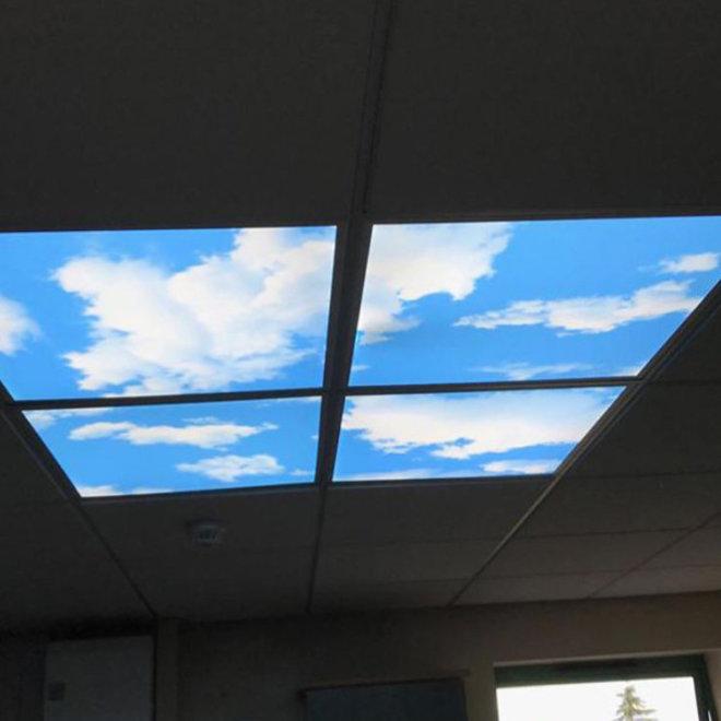 LED Wolkenplafond 60 x 60 cm complete set 4 stuks inclusief LED panelen