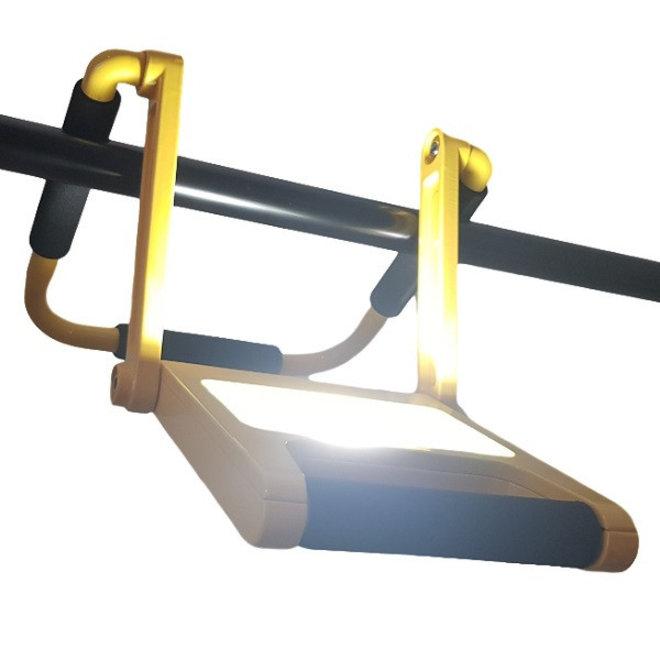 20W LED Acculamp Slim - Vouwbare Bouwlamp met Accu - 2 lichtstanden - IP54 Waterdicht