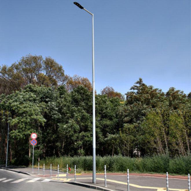 Lichtmast / Lantaarnpaal 4 meter - inclusief anker - 24 jaar garantie corrosievrij - met één arm