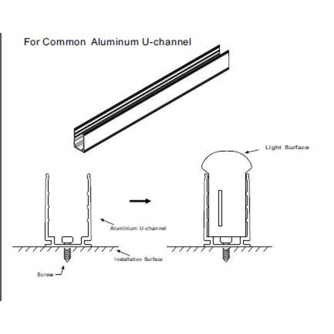 Montagebeugel LED Neon Flex - Aluminium