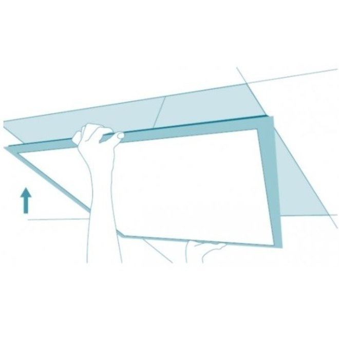 LED Paneel 120 x 30 cm 35W - Flikkervrij - 3000K Warm Wit - Vervangt 2X36 TL verlichting