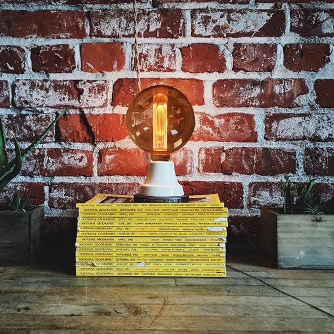 LED Kooldraadlamp E27 3-staps dimbaar - G125 Vintage - 5W Dimmen met Schakelaar en Geheugen