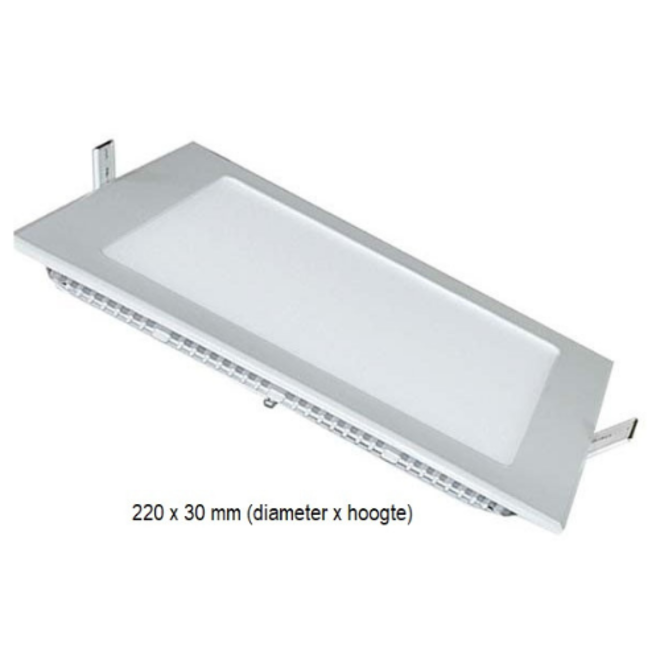 LED Slim Downlight 18W Vierkant