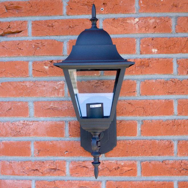 Tuin Wandlamp Lantaarn Livorno Zwart L