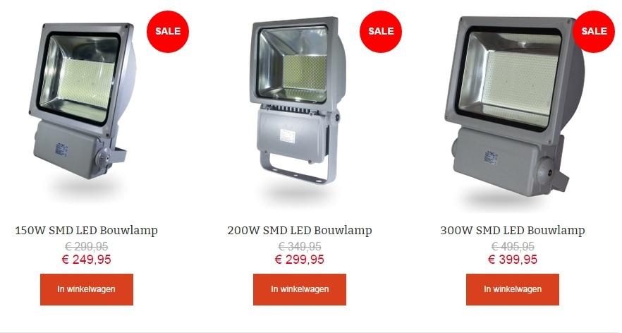 SMD LED floodlights