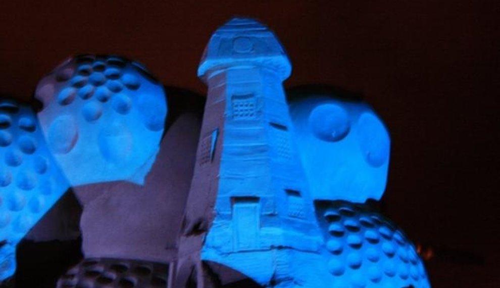 Zandsculpturenfestival in Winterswijk verlicht met LED Bouwlampen