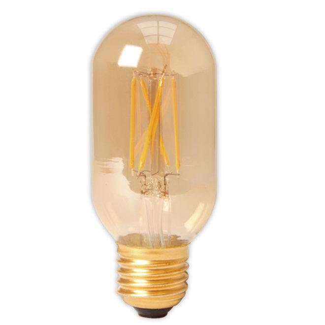 LED Filament T45L E27 Amber 4W Dimbaar