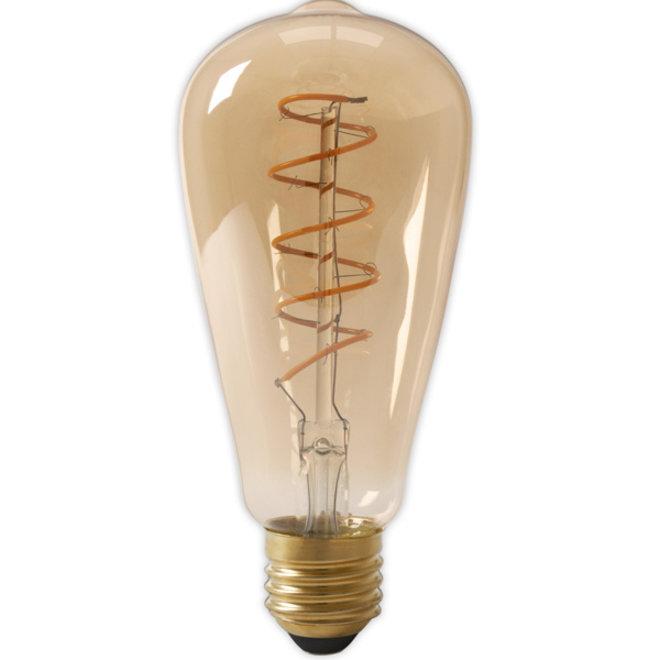LED Filament ST64 E27 Amber 2100K 4W Dimbaar