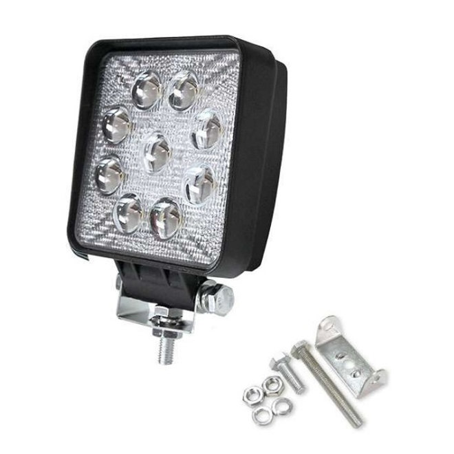 27W 12V-24V Werklamp Vierkant EMC voor Voertuigen