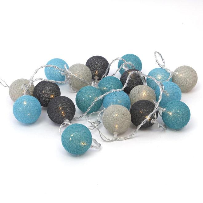 Cotton Ball Lights - lichtslinger met 20 lampjes - Kant en Klaar - Warm licht - Met stekker