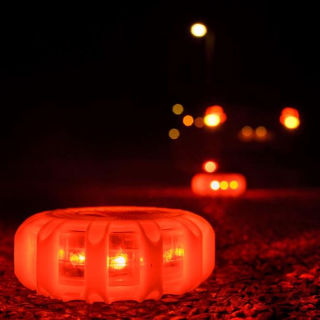 Specilights LED Gevarenlamp Set van 3 - Veiligheidslicht Disk met 15 LED's - Waarschuwingslamp Noodlamp