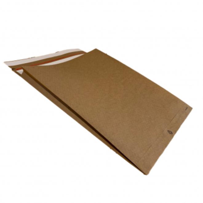 Specipack Kraft Verzendzak - Green E-commerce V-bodem Mailer 400 x 500 126 g/m2 - Dubbele Kleefstrip - Doos 100 enveloppen