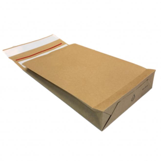 Specipack Kraft Verzendzak- Green E-commerce Blokbodem Mailer - 350 x 450 mm -126 g/m2 - Dubbele Kleefstrip - Doos 200 enveloppen