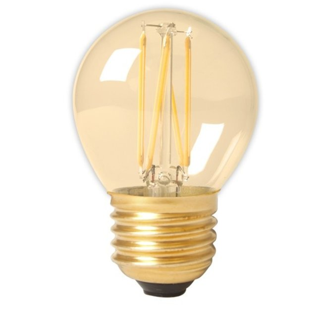 LED Filament P45 E27 Amber 3,5W Dimbaar