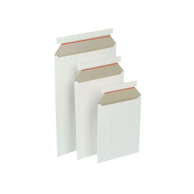 Kartonnen envelop 176 x 250 mm - Wit - Doos 100 stuks
