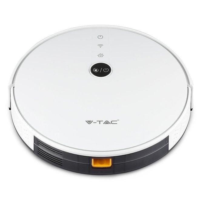 Smart Robotstofzuiger self charging met laadstation Wit - Werkt met Alexa en Home Assistant