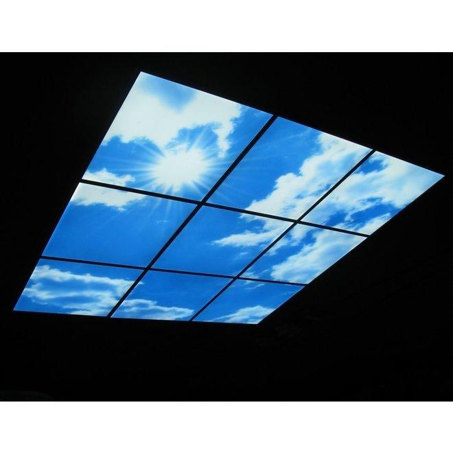 LED Wolkenplafond Acrylplaat 2mm - Inclusief Afstandshouders - Set 6 Panelen 3 x 2