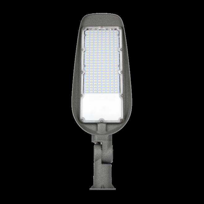 LED Straatlamp 50W met ingebouwde instelbare schemersensor - Verstelbare arm 220° - Paaltop/Muurbevestiging - High Lumen 100 Lumen/Watt - 5000 Lumen - 5 Jaar Garantie
