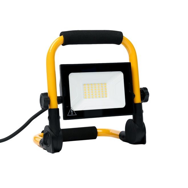 30W LED Bouwlamp met grondstatief - Werklamp met 3 meter kabel met stekker - Waterdicht IP65