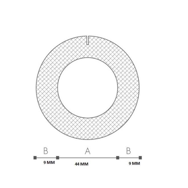Schuimprofiel O-vorm Buisisolatie 42 mm Doos 55 stuks