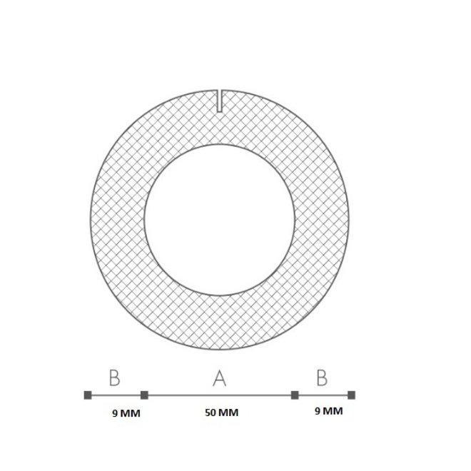 Schuimprofiel O-vorm Buisisolatie 48 mm Doos 45 stuks