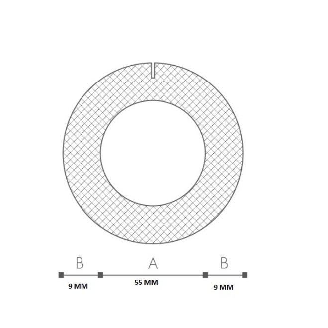 Schuimprofiel O-vorm Buisisolatie 54 mm Doos 35 stuks