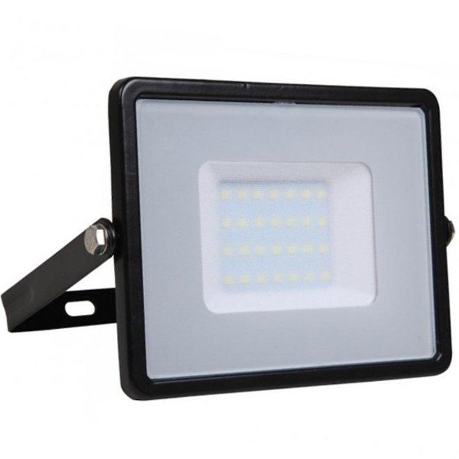 30W LED Bouwlamp Zwart - Waterdicht IP65 - 5 jaar garantie - 4000K