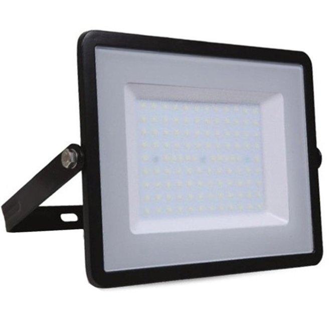 100W LED Bouwlamp Zwart - Waterdicht IP65 - 5 jaar garantie - 6000K