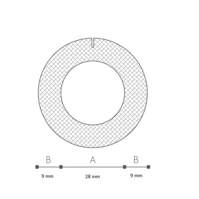Schuimprofiel O-vorm Buisisolatie 28 mm Doos 95 stuks
