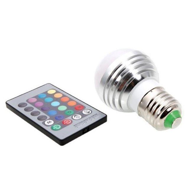 3W RGB LED Lamp E27