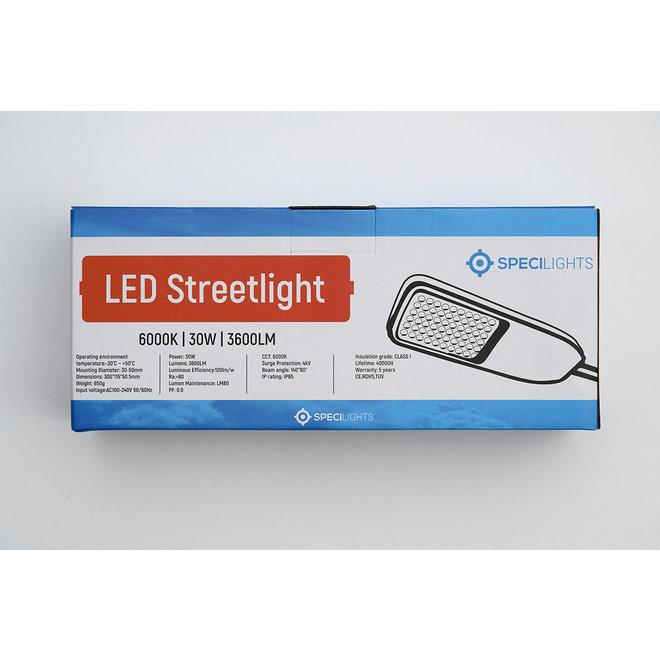 LED Straatlamp 30W 120lm/w - 3600 Lumen - IP65 - 5 jaar garantie - Specilights Straatverlichting