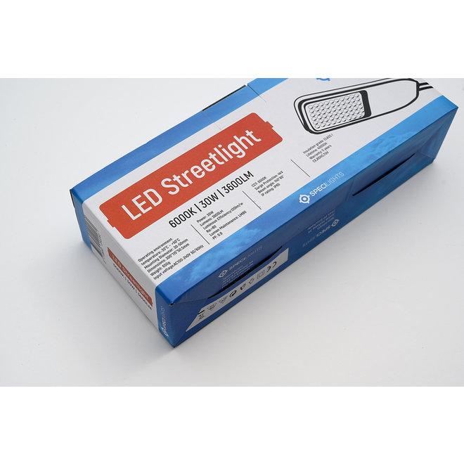 LED Straatlamp Premium 30W 120lm/w - 3600 Lumen - IP65 - 5 jaar garantie - Specilights Straatverlichting