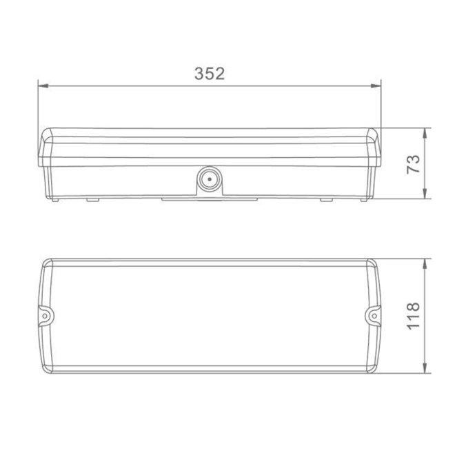 LED Noodverlichting Vluchtwegverlichting 3W IP65 Waterdicht - Inclusief Pictogrammen