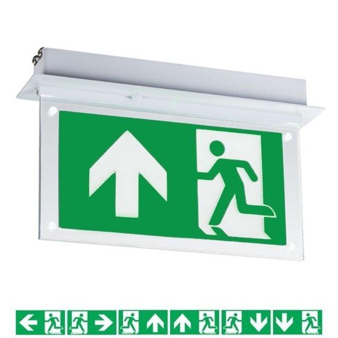 LED Noodverlichting Vluchtwegverlichting inbouw plafond 2W - Inclusief Pictogrammen